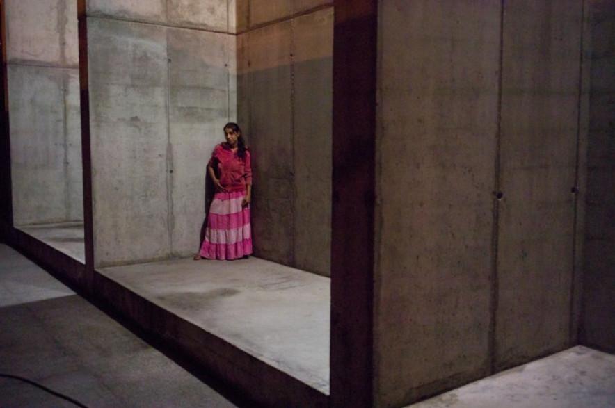 maria, the parking queen. holocaust museum, bucharest. 2014