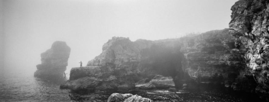 cliff, black sea. 2016