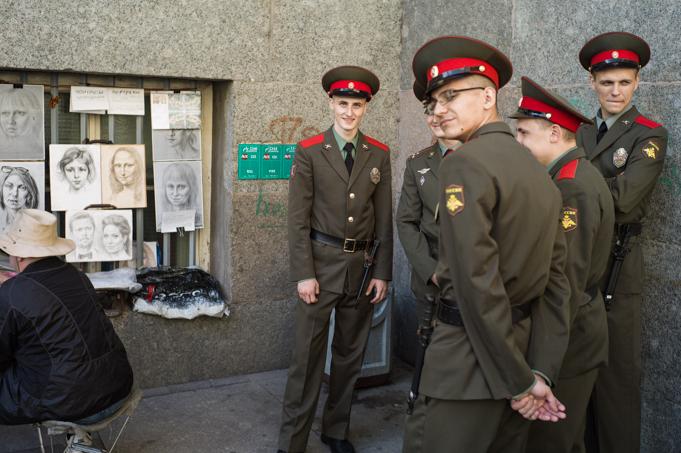 russian army in sankt petersburg