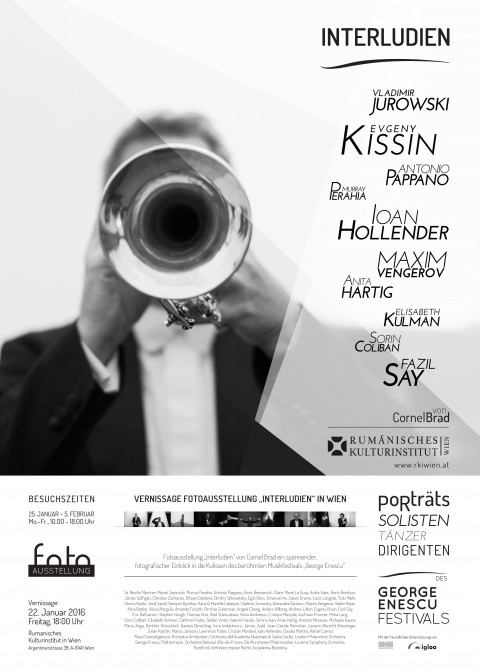 afis interludii expozitie viena ICR poster Interludes exhibition at ICR Wiena